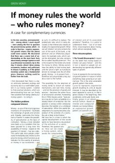 If Money Rules the World, Who Rules the Money?