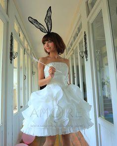 ウェディングドレス-ミニ s078