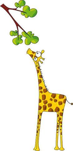 Sticker decorativo Infantil a Girafa Painting For Kids, Diy Painting, Art For Kids, Deco Stickers, Image Deco, Wall Murals, Wall Art, Decoration, Clip Art