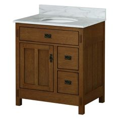 Sagehill Designs AC3021DN American Craftsman 30 in. Single Bathroom Vanity Base