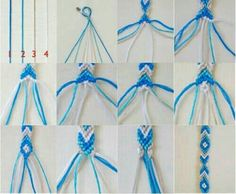 Keep the kids busy with this simple indoor craft. Heres a DIY friendship bracelet tutorial. Complete with step by step i Diy Bracelets With String, String Bracelet Patterns, Yarn Bracelets, Diy Bracelets Easy, Bracelet Crafts, Pandora Bracelets, Jewelry Crafts, Gold Bracelets, Ankle Bracelets