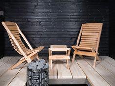 Bastuinredning | Sveriges största webbutik för bastuprodukter Outdoor Chairs, Outdoor Furniture, Outdoor Decor, Spa Rooms, Saunas, Home Spa, Amazing Bathrooms, Sun Lounger, Villa