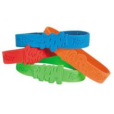 Super Hero Sayings Rubber Bracelets | 24ct