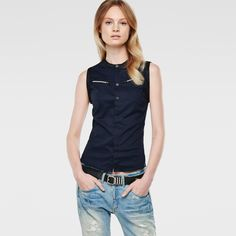 G-Star RAW | Frauen | Tops | Sutzil Slim Shirt , Mazarine Blue