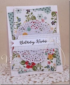 Card by Maureen Plut using Be Blessed from Verve.  #vervestamps