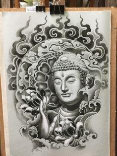 Buddha Tattoo Design, Clock Tattoo Design, Sketch Tattoo Design, Tattoo Sketches, Tattoo Drawings, Tattoo Designs, Symbol Tattoos, Body Art Tattoos, Hand Tattoos