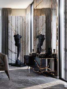 Neoclassical Interior Design, Luxury Interior Design, Interior Architecture, Interior Decorating, Bedroom Door Design, Fancy Houses, Entertainment Room, Art Of Living, Cladding