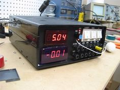 Benchtop Power Supply by Electronics DIY -- Homemade benchtop power supply constructed from a transformer, capacitors, switches, outlets, an enclosure, and LED displays. http://www.homemadetools.net/homemade-benchtop-power-supply-11