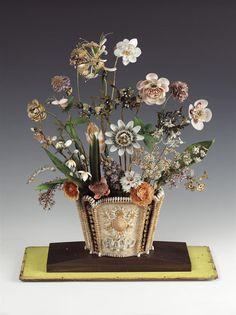 Shellwork vase, c. 1800-1820