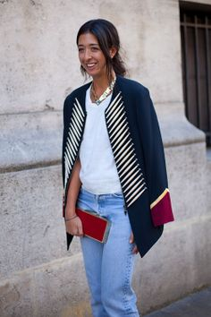 STREET STYLE SPRING 2013: PARIS FASHION WEEK - The jacket as statement piece on this major stylist.