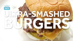 Classic smashed burgers are all about maximizing that deep, brown crust. But I found myself wondering: What if I were to take this to the extreme? Was there a way I could pack even more flavor into a burger? And thus, the ultra-smashed burger was born. Same burger size, but twice the amount of crisp, browned crust. #Burgers #ShakeShack #Cheeseburgers #SmashBurgers #GameDay #GameDayRecipes #SuperBowl #Entertaining #SeriousEats #HarryPotterGamesOnline