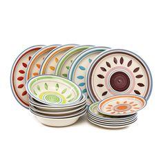 Servizio piatti in ceramica, 18 pezzi: Amazon.it: Casa e cucina