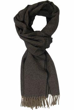 Schal, Webschal, fischgrat gemustert, schwarz,camel,100% reine Wolle: Amazon.de: Bekleidung