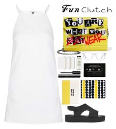 """""""JIMMY CHOO CLUTCH"""" by dianakhuzatyan ❤ liked on Polyvore featuring Topshop, Jimmy Choo, Melissa, Kate Spade, Marimekko, COVERGIRL, Muse, Chanel, contest and Clutch"""