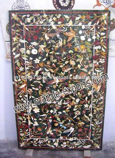 27 best square pietre dure marble inlay dinning table top images rh pinterest com