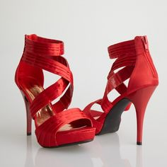 #NightMovesPromShoes Carrie!  Red Strappy Prom Shoes! #prom #promshoes #promideas #InternationalProm #Prom360