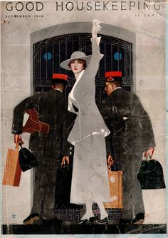 Coles Phillips - Good Housekeeping Magazine cover (September 1916)