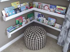 I love this children's book corner.