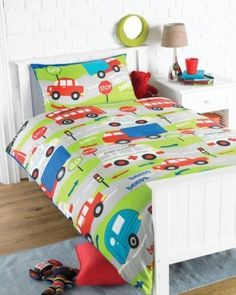 BOYS TRANSPORT CAR BUS TRUCK BEDDING - SINGLE DUVET COVER SET, http://www.amazon.co.uk/dp/B008FPWQ36/ref=cm_sw_r_pi_awd_tI99sb1AD0GFD