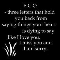 Ego destroys relationships