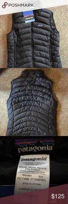 Patagonia down sweater vest black NEW WITH TAGS! Down feather vest. PRICE IS FIRM Patagonia Jackets & Coats Vests