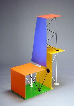 ifthisisawoman:  Peter Shire  Planeair chair Design Furniture, Living Furniture, Art Furniture, Chair Design, Bauhaus, Kitchen Bookshelf, Air Chair, Love Chair, Memphis Design