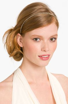 Cara Accessories Skinny Crystal Headband available at #NordstromWeddings