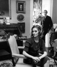 Loulou de La Falaise with her first husband, Desmond FitzGerald, Knight of Glin.