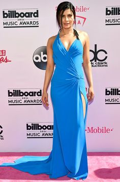 Billboard Music Awards 2016: All the Best and the Boldest Looks from the Red Carpet | People - Priyanka Chopra in a blue Atelier Versace dress
