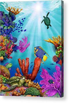 Sea Murals, Tile Murals, Sea Life Art, Sea Art, Coral Painting, Ocean Drawing, Sea Plants, Underwater Painting, Beautiful Sea Creatures