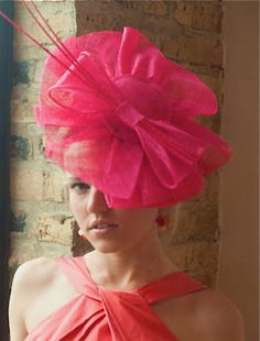 Hot Pink Kentucky Derby Fascinator by Masinaco on Etsy, $148.00