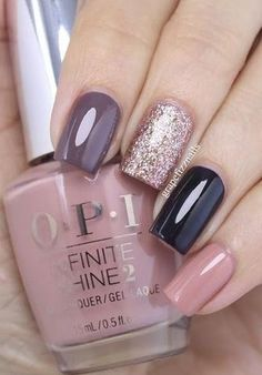 This year saw hundreds of creative trends in nail art and timeless manicure ideas. We've compiled the most pinned nail designs of the year to up your manicure game as . Trendy Nails, Cute Nails, My Nails, Gelish Nails, Shellac Nails Fall, Glitter Manicure, Gel Nails For Fall, Summer Nails, Simple Fall Nails