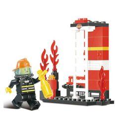 Sluban DIY MINI FIRE TRUCK Building Blocks Kids Toys - Blue Products- - TopBuy.com.au