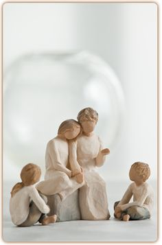 Willow Tree Grandmother with 3 Grandchildren - Willow Tree Caring Child Figurine (Height Ref: Willow Tree Spirited Child Figurine (Height: Ref: Willow Tree With My Grandmother Figurine (Height: Ref: Willow Tree Grandmother, Mom And Grandma, Willow Tree Angels, Willow Tree Figurines, Presents For Mum, Kids Girls, Boys, 2 Girl, How To Pose