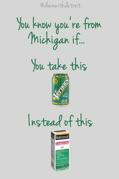 You Know You're From MICHIGAN If...