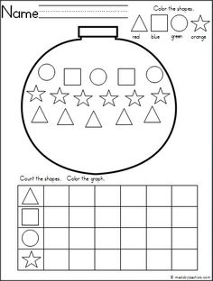 This+is+a+Christmas+ornament+themed+activity+for+your+Kindergarten+students+to+practice+shapes+and+graphing.+ It's+a+wonderful+math+activity+for+any+winter+month.+ Download+it+for+free.
