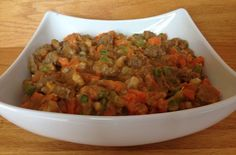 You gotta love a beef stew that has everything that's good for your dog built in. There's meat for protein, vegetables for vitamins, and gravy for flavor.