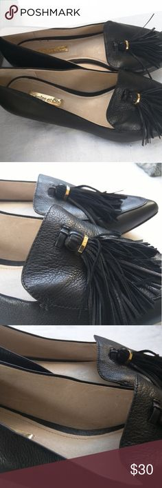 Louise et Cie Tassel Loafers Flats Louise et Cie  Abriana  slip on loafers with an eye catching upper tassel, pointed toe.  Leather upper, insole and synthetic sole.  Beautiful and elegant and very soft.  Runs to true size. Luoise et Cie Shoes Flats & Loafers