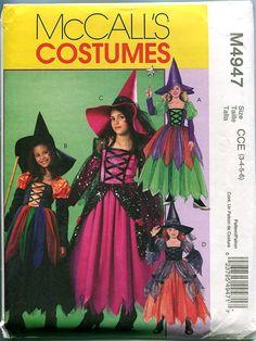 McCalls 4947 Toddler Girl's Child Witch by DesignRewindFashions, $8.00