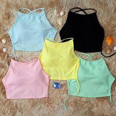 Cute Girl Outfits, Cute Summer Outfits, Cute Casual Outfits, Girls Fashion Clothes, Teen Fashion Outfits, Crop Top Outfits, Cute Shirts, Cute Tops, Pulls
