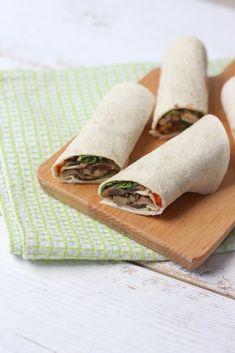 Wraps met roomkaas en champignons