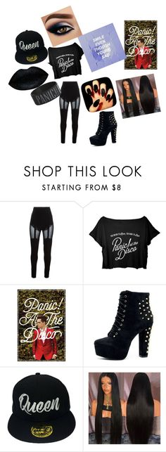 """""""Panic! At The Disco"""" by jokergodess ❤ liked on Polyvore featuring Murmur, Lovers + Friends and Hot Topic"""