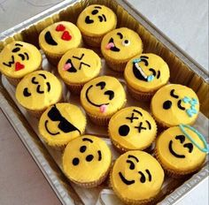 cupcakes, emoji, emoticons, fun
