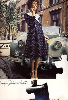 Fashion advertisement in Vogue Italia, March 1972.