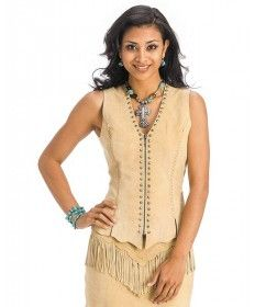 Women's Buckskin Suede Vest by Cripple Creek