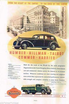 Humber Hillman ~ Australia 1936.