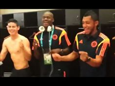 Celebración de la Selección en el Camerino | #Colombia 3-0 #Grecia #Brasil2014
