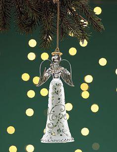 Lenox Joyous Tidings Angel with Harp, Hope Ornament