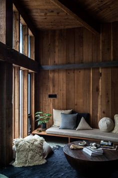 Wooden cabin daydreaming