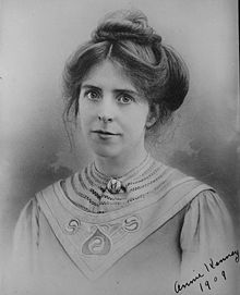 Annie Kenney, (1879 - 1953) Suffragette who spent three days in prison for daring to ask Churchill and Sir Edward Grey if they believed women should have the right to vote. Neither man replied.